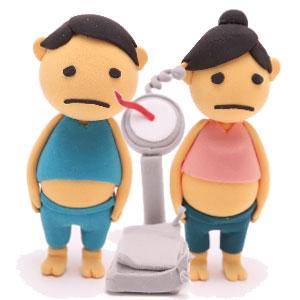 憂鬱な体重計の図