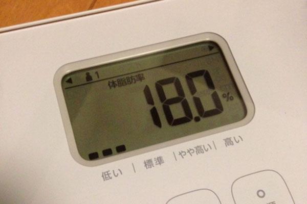 体脂肪率18%
