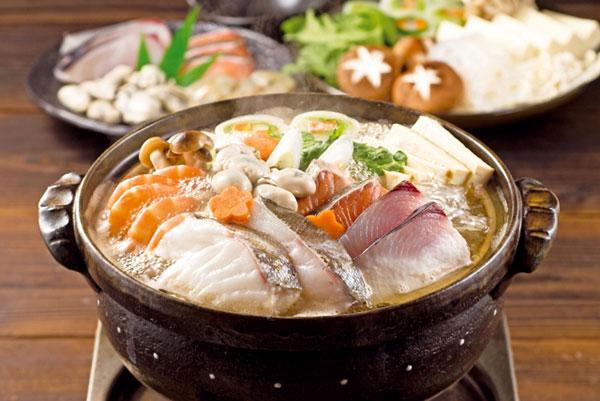 海鮮鍋をヘルシーに〆るには…