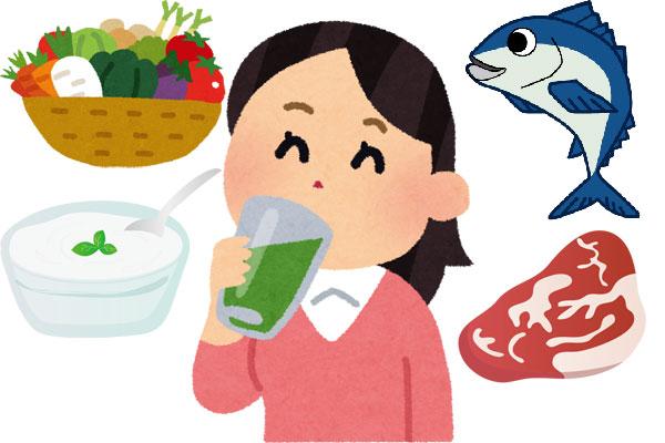 野菜・魚・肉の栄養素と乳酸菌を青汁でサポート