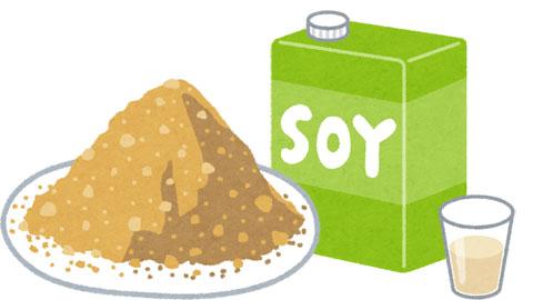きな粉+豆乳