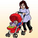 赤ちゃんとウォーキング