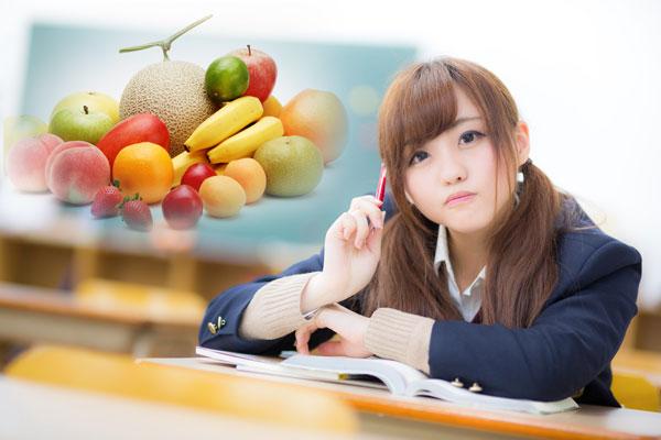 フルーツ大好き女子高生
